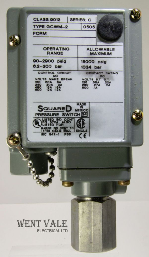 Square D  - 9012 GCWM-2 0505 Series C - Industrial Pressure Switch